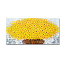 billige Abstrakte malerier-Hang malte oljemaleri Håndmalte - Abstrakt Blomstret / Botanisk Moderne Inkluder indre ramme / Stretched Canvas
