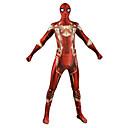 povoljno PS4 oprema-Zentai odijela Odijelo za kožu Puno radno odijelo uz tijelo Super Heroes Dječji Odrasli Lycra Cosplay Nošnje Muškarci i žene Crvena Print Božić Halloween New Year
