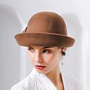 billiga Partyhatt-Den underbara fru Maisel Dam Vuxna damer Retro / vintage Felt hattar hatt Brun Rosa Röd Vintage Blomma Ull Huvudbonad lolita tillbehör