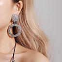 povoljno Modne naušnice-Žene Viseće naušnice dame Vintage pomodan Ogroman Druzy Naušnice Jewelry Zlato / Pink / Rose Gold Za Party Svečanost 1 par