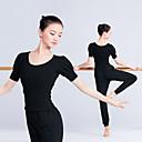 ราคาถูก ชุดเต้นรำลาติน-ชุดเต้นละติน เสื้อ สำหรับผู้หญิง การฝึกอบรม / Performance Elastane / ไลคร่า กระโปรงระบาย แขนสั้น Top