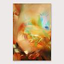 voordelige Abstracte schilderijen-Hang-geschilderd olieverfschilderij Handgeschilderde - Abstract Modern Inclusief Inner Frame