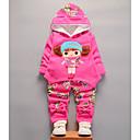 Χαμηλού Κόστους Σετ ρούχων για κορίτσια-Νήπιο Κοριτσίστικα Ενεργό Καθημερινά Μονόχρωμο Γεωμετρικό Μακρυμάνικο Κανονικό Κανονικό Σετ Ρούχων Ανθισμένο Ροζ