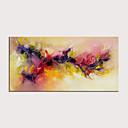 Χαμηλού Κόστους Αφηρημένοι Πίνακες-Hang-ζωγραφισμένα ελαιογραφία Ζωγραφισμένα στο χέρι - Αφηρημένο Άνθινο / Βοτανικό Μοντέρνα Χωρίς Εσωτερικό Πλαίσιο / Κυλινδρικός καμβάς
