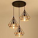 billige Island Lights-3-lys kegle / industriell hamp tau lysekrone omgivende lysmalte overflater metall tau, kreative 110-120v / 220-240v