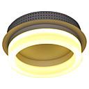 billiga Takfasta och semitakfasta taklampor-Takmonterad Glödande Rektangulär Metall Glas LED 110-120V / 220-240V Varmt vit / Vit LED-ljuskälla ingår / Integrerad LED