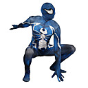 povoljno PS4 oprema-Zentai odijela Odijelo za kožu Puno radno odijelo uz tijelo Super Heroes Dječji Odrasli Lycra Cosplay Nošnje Muškarci i žene Plava Print Božić Halloween New Year