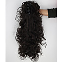billiga Syntetisk hårförlängning-Hästsvans Hårstycke Lockigt Klassisk Syntetiskt hår 18 inch HÅRFÖRLÄNGNING Dagligen