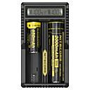 baratos Caneta de Tinta de Automotivo-Nitecore UM20 Carregador de Bateria 5 V para Li-Ion Smart USB LCD Detecção de Circuito Circuito Protegido 18650,18490,18350,17670,17500,16340(RCR123), 14500,10440 Acampar e Caminhar / Pesca