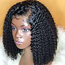 povoljno Perike s ljudskom kosom-Ljudska kosa Lace Front Perika Bob frizura Kratak Bob Rihanna stil Brazilska kosa Kovrčav Crna Perika 130% Gustoća kose s dječjom kosom Prirodna linija za kosu Za crnkinje 100% Djevica 100% rađeno