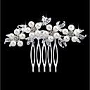 Χαμηλού Κόστους Κοσμήματα Μαλλιών-Γυναικεία Μοντέρνα Απομίμηση Μαργαριταριού Στρας Κράμα Χτενιές Μαλλιών Γάμου Πάρτι - Φλοράλ / Leaf Shape