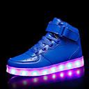 זול LED Shoes-בנים נעליים זוהרות PU נעלי ספורט ילדים / מתבגר אדום / כחול / ורוד סתיו / גומי