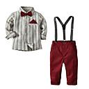 Χαμηλού Κόστους Σετ ρούχων για αγόρια-Παιδιά Αγορίστικα Βασικό Καθημερινά Μονόχρωμο Μακρυμάνικο Κανονικό Σετ Ρούχων Κρασί