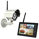 """povoljno Sigurnosna oprema-bežični 4ch quad dvr 1 kamere pal 628x582 ntsc 510x492 sa 7 """"800x480 tft-lcd monitorom kućni sigurnosni sustav pal ntsc ugrađen u mikrofon"""