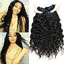 hesapli Gerçek Saç Örgüleri-3 Paket Düz Brezilya Saçı Su Vanası Gerçek Saç İşlenmemiş Gerçek Saç Wig Accessories Başlık İnsan saç örgüleri 8-28 inç Doğal Renk İnsan saç örgüleri Yumuşak Dizaynlar Kolay soyunma İnsan Sa / 8A