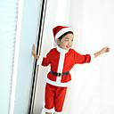 povoljno Božićni kostime-Božićna haljina Santa Clothe Djeca Uniseks Božić Božić Festival / Praznik Pliš Light Red Karneval kostime Odmor Božić