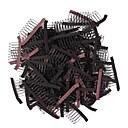 ราคาถูก เครื่องมือและอุปกรณ์เสริม-Wig Accessories / คลิปผม / เครื่องมือและอุปกรณ์ Poly / Cotton Blend คลิป / แปรงและหวีวิก คลิป / หวี คลาสสิก 50 pcs ทุกวัน คลาสสิก สีเบจ Black