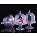 povoljno Svadbeni ukrasi-Oval Shape plastika Naklonost Holder s U slojevima Apothecary Candy Jar - 12pcs