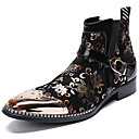 povoljno Muške oksfordice-Muškarci Svečane cipele Mekana koža Zima Ležerne prilike / Uglađeni Čizme Ugrijati Čizme do pola lista Crn / Zabava i večer / Zabava i večer / Fashion Boots / Vojničke čizme