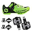 billige Skjermbeskyttere til Huawei-SIDEBIKE Voksne Sykkelsko med pedal og tåjern Mountain Bike-sko Nylon Demping Sykling Grønn / Svart Herre Sykkelsko / Krok og øye