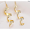 cheap Earrings-Women's Earrings Geometrical Stylish Simple Earrings Jewelry Gold / Black / Silver For Daily Going out 1 Pair