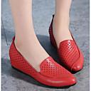ราคาถูก รองเท้าแตะและรองเท้าโลฟเฟอร์สำหรับผู้หญิง-สำหรับผู้หญิง หนังสัตว์ ฤดูใบไม้ผลิ รองเท้าส้นเตี้ยทำมาจากหนังและรองเท้าสวมแบบไม่มีเชือก Hidden Heel ขาว / สีดำ / แดง