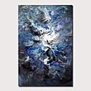 Χαμηλού Κόστους Αφηρημένοι Πίνακες-Hang-ζωγραφισμένα ελαιογραφία Ζωγραφισμένα στο χέρι - Τοπίο Σύγχρονο Μοντέρνα Περιλαμβάνει εσωτερικό πλαίσιο