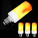 ราคาถูก หลอดไฟเกลียวLED-zdm 4pcs e26 e27 / e14 5w นำผลเปลวไฟหลอดไฟ -4 โหมดที่มีผลคว่ำ ac85-265v