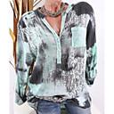 povoljno Apstraktno slikarstvo-Veći konfekcijski brojevi Majica Žene - Osnovni Dnevno Geometrijski oblici Kragna košulje Plava