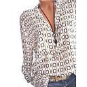 povoljno Ulošci i umetci-Veći konfekcijski brojevi Majica Žene - Osnovni Dnevno Geometrijski oblici Kragna košulje Print Obala