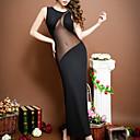 povoljno Ogrtači i odjeća za spavanje-Žene Mrežica Super seksi Potkošulja / ogrtač Noćno rublje Jednobojni Crn One-Size