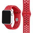 billige iPhone-etuier-Klokkerem til Apple Watch Series 4/3/2/1 Apple Sportsrem Silikon Håndleddsrem
