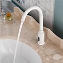 ราคาถูก ภาพวาดวิวทิวทัศน์-ก๊อกน้ำอ่างล้างจานห้องน้ำ - กระจาย / เซ็นเซอร์ ชุบโลหะด้วยไฟฟ้า ตั้ง แฮนด์ฟรีหนึ่งหลุมBath Taps / Brass