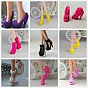 ราคาถูก แหวน-รองเท้าตุ๊กตา Princess Lolita สไตล์น่ารัก 9 pcs สำหรับ Barbie สีดำ เส้นด้ายสังเคราะห์ เส้นใยสังเคราะห์ พีวีซี รองเท้า สำหรับ ของหญิงสาว ของเล่นตุ๊กตา