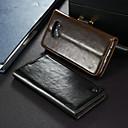 billige Hårtilbehør-Etui Til Samsung Galaxy S7 edge Lommebok / Kortholder / med stativ Heldekkende etui Ensfarget Hard PU Leather