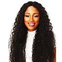 זול פיאות תחרה משיער אנושי-פאות סינתטיות אפרו קינקי סגנון חלק אמצעי ללא מכסה פאה שחור שיער סינטטי 20inch בגדי ריקוד נשים הגעה חדשה שחור פאה ארוך