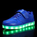 billige LED Sko-Gutt LED / Lysende sko PU Treningssko Små barn (4-7år) / Store barn (7 år +) Svart / Hvit / Rød Høst / Vinter