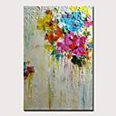 billige Abstrakte malerier-Hang malte oljemaleri Håndmalte - Landskap Blomstret / Botanisk Moderne Uten Indre Ramme / Valset lerret