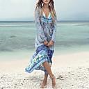 povoljno Modne naušnice-Žene Veći konfekcijski brojevi Plaža Osnovni Swing kroj Haljina Geometrijski oblici Duboki V Maxi / Sexy