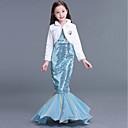 Χαμηλού Κόστους Κοστούμια με Θέμα Ταινίες & Τηλεόραση-The Little Mermaid Aqua Princess Φορέματα Παιδικά Κοριτσίστικα Σλιπ για Τουαλέτα Γοργόνα και Τρομπέτα Halloween Απόκριες Μασκάρεμα Γιορτές / Διακοπές Πούλια Τερυλίνη Μπλε Απαλό Αποκριάτικα Κοστούμια