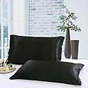baratos Fronhas e Conjuntos de lençóis-Fronha - 100% Tencel Impressão Reactiva Sólido 2pçs Fronhas de Almofada