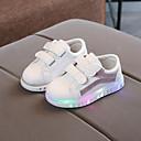 Χαμηλού Κόστους LED Παπούτσια-Κοριτσίστικα LED / Ανατομικό / Φωτιζόμενα παπούτσια PU Αθλητικά Παπούτσια Νήπιο (9m-4ys) / Τα μικρά παιδιά (4-7ys) Ταινία Δεσίματος Μαύρο / Ασημί / Ροζ Φθινόπωρο & Χειμώνας / Καοτσούκ