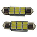 billiga LED-bi-pinlampor-2pcs 39mm / 36mm / 41mm Bilar Glödlampor 2W SMD 5630 215lm 9 Läslampa