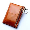 ราคาถูก กระเป๋าตังค์-สำหรับผู้หญิง ซิป หนังวัว กระเป๋าเงิน สีบานเย็น / กาแฟ / ไวน์