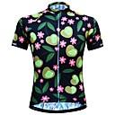 povoljno Biciklističke majice-JESOCYCLING Žene Kratkih rukava Biciklistička majica Crn Cvjetni / Botanički Bicikl Biciklistička majica Majice Brdski biciklizam biciklom na cesti Prozračnost Ovlaživanje Quick dry Sportski 100