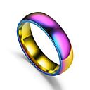 billige Båndringe-Par Band Ring 1pc Regnbue Titanium Stål Sirkelformet damer Enkel Romantikk Gave Daglig Smykker Retro Regnbue Heart Smuk