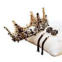Χαμηλού Κόστους Εξτένσιος μαλλιών με φυσικό χρώμα-Μαύρος κύκνος Κρεμαστά Σκουλαρίκια Κρίκοι Τιάρες μέτωπό Crown Βίντατζ Γοτθική Λολίτα Barroco Κομψό Χρώμιο Κορώνα Χορός μεταμφιεσμένων Για Πάρτι / Βράδυ Χοροεσπερίδα Γαμήλιο Πάρτι / Γυναικεία