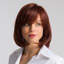 Χαμηλού Κόστους Χωρίς κάλυμμα-Ανθρώπινη Τρίχα Περούκα Μεσαίο Φυσικό ευθεία Κούρεμα καρέ Κόκκινο Μοδάτο Σχέδιο Εύκολη σάλτσα Άνετο Χωρίς κάλυμμα Γυναικεία σκούρο κρασί 12 Ίντσες / Φυσική γραμμή των μαλλιών