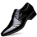 ราคาถูก รองเท้าOxfordสำหรับผู้ชาย-สำหรับผู้ชาย รองเท้าหนัง Microfibre ฤดูใบไม้ผลิ & ฤดูใบไม้ร่วง รองเท้า Oxfords สีดำ