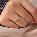 povoljno otvarači-Žene Prsten Prstenasti prsten Moonstone 1pc Zlato Smola Legura Cirkularno Personalized Jednostavan Korejski Dar Dnevno Jewelry Klasičan Slatko Lijep